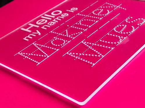 Acrylic trace boards