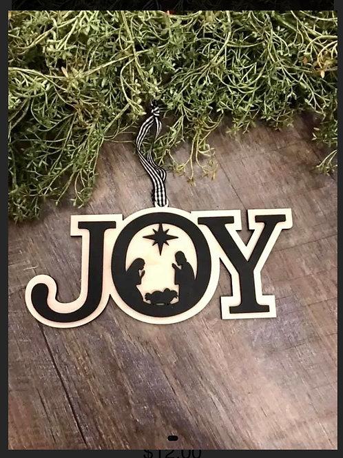JOY Nativity Decor
