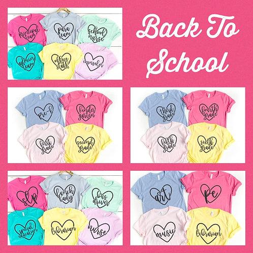 Heart School Title Tee