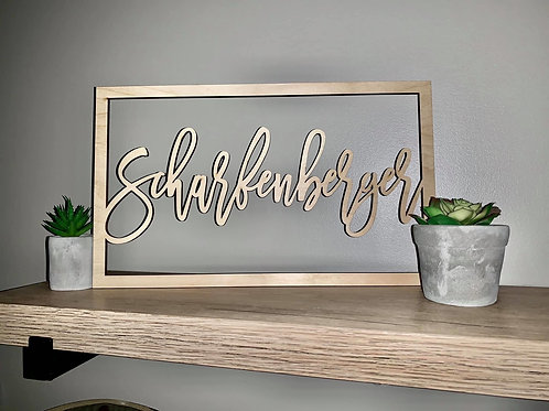 Wood Name Cut Out