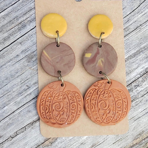 Fall clay earrings