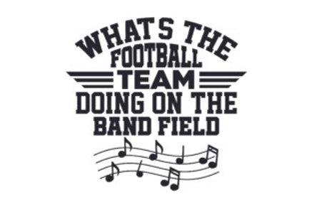 Football Team on Band Field