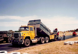 From dirt to bitumen