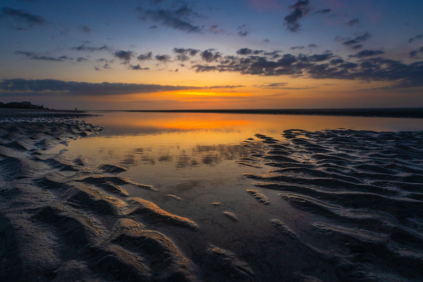 Sand Ripples at Sunrise