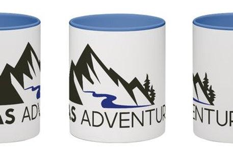 MAS Adventures Branded Mug in White/Blue - Full Wrap Logo!