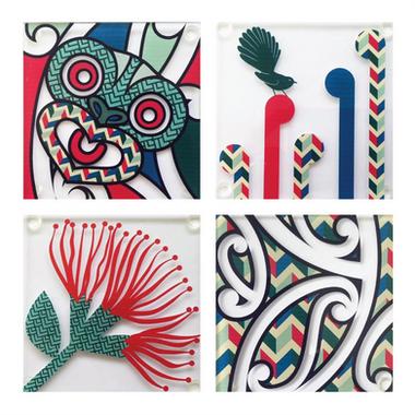 Graphic Design | Glass Coasters - Client NZ Dimensionz