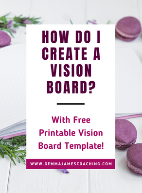 How do I Create a Vision Board? (with Free Printable Vision Board Template!)