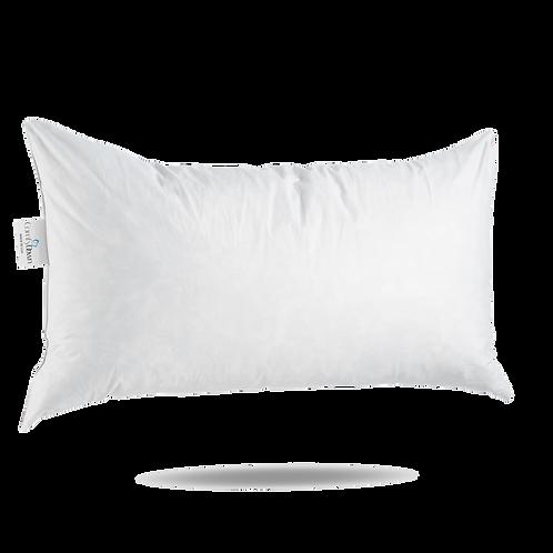 """12 X 22"""" Lumbar Rectangular ComfyDown Feather Decorative Pillow Insert"""