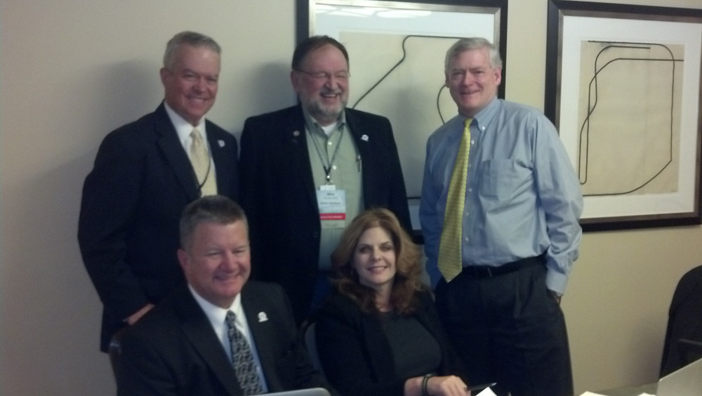 Compact Commissioners Rakestraw and Treadwell with Patterson, DeMoss and Rep. Keller