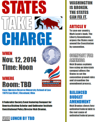 States Take Charge! Join Us at Case-Western Law School for a Luncheon Presentation.