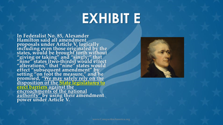 The Founders Wanted a Laser-Targeted Article V Convention (Part 5 of 8)