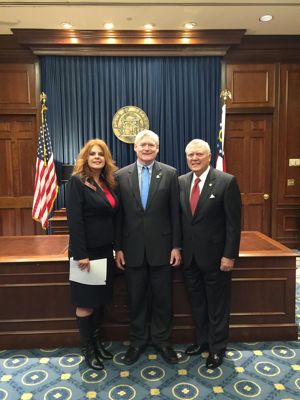Commissioners Rakestraw & Treadwell with Governor Deal