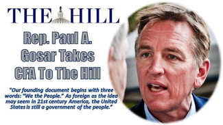 Rep. Paul A. Gosar takes America's Compact for a Balanced Budget to The Hill