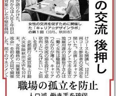 【メディア掲載】「日経新聞」(地方版・12/20)「日経産業新聞」(12/22)に代表・池原の地方講演が掲載