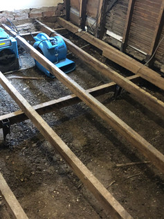 If water gets under a floor there is often no way to remove it and the mould, timber rotting fungi, insects and damage other than taking up the flooring. Once thought to be clean, dry and mould-free, we test the site to confirm all is well