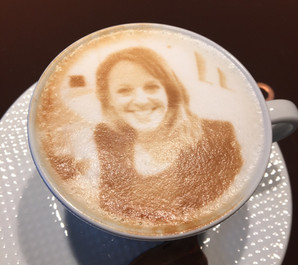 Behind the scenes: Having a latte fun…