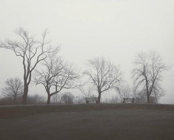 Blockhouse Hill in the fog_#lunenburg #f