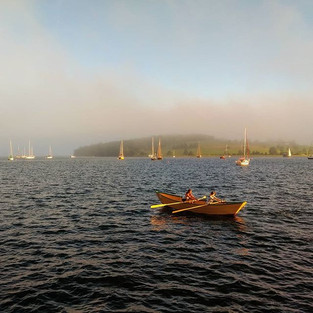 Dory rowing towards the fog_#fog #dory #