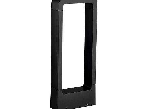 Tubular rectangular aluminio negro 10W