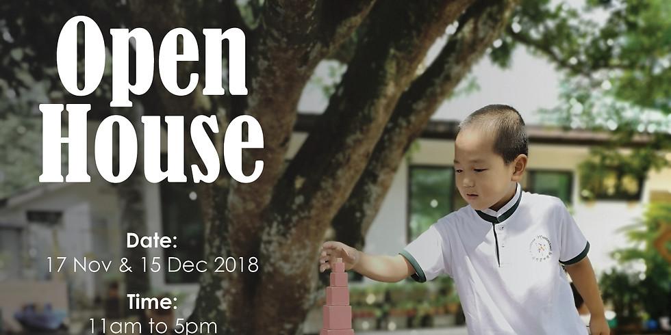 OPEN HOUSE on 15 Dec 2018