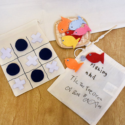 Curry Leaf Class's Tic Tac Toe & Fishing Game Set