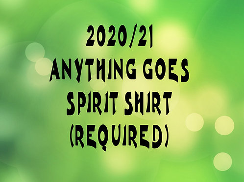 EXTENDED SIZES REQUIRED SPIRIT SHIRT