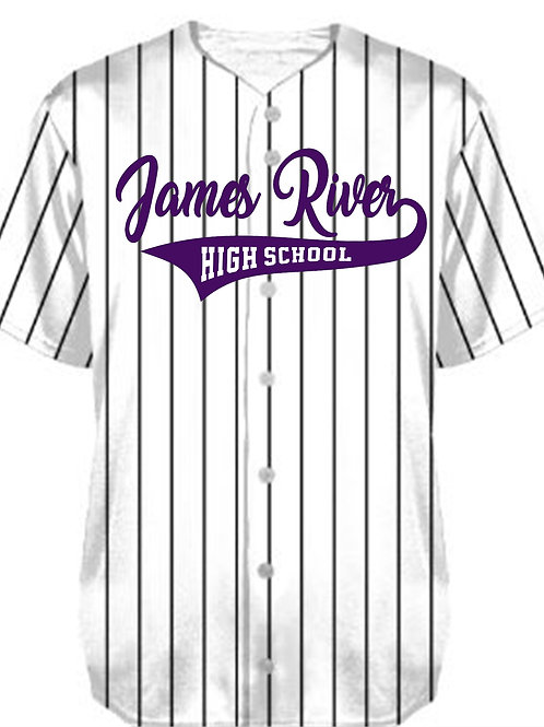 EXTENDED SIZES PINSTRIPE BASEBALL JERSEY 1685