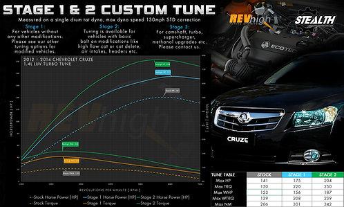 2012 – 2014 Holden / Chevrolet CRUZE 1.4L LUV TURBO Custom Tune / Remote Flash