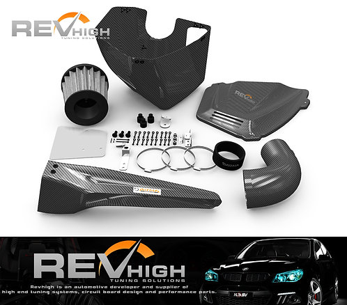 Audi A4 B9 2.0T carbon fiber airbox Performance cold air intake filter kit