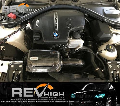 BMW F20 M116i N13B16 carbon fiber airbox Performance cold air intake filter kit