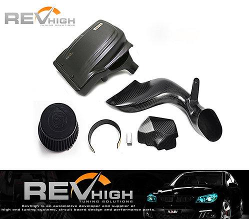 BMW E61 535i carbon fiber airbox Performance cold air intake filter kit