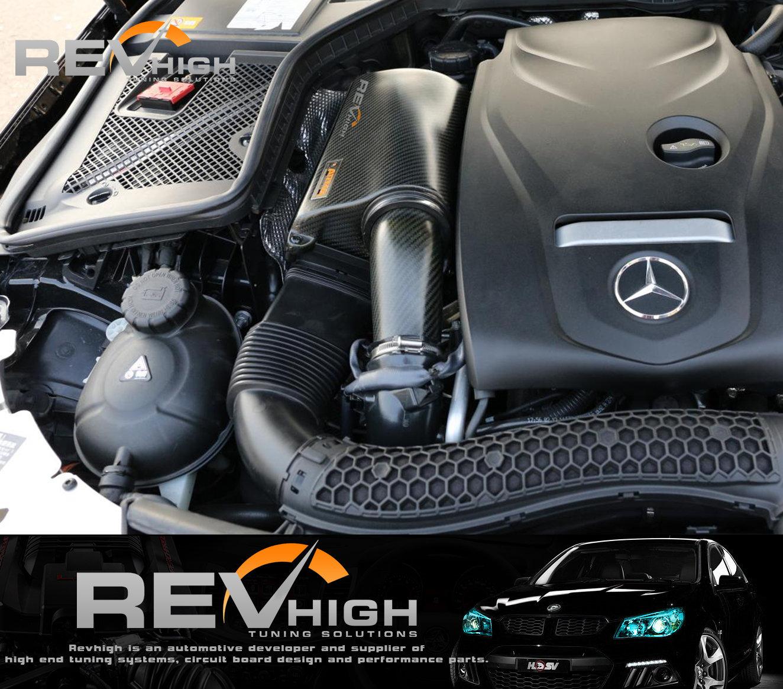 Mercedes Benz W205 C250 carbon fiber airbox Performance cold air intake  filter k | revhigh
