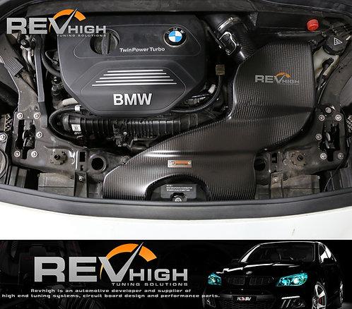 BMW F45 225i B48 carbon fiber airbox Performance cold air intake filter kit