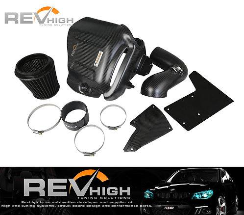 BMW F36 440i B58 carbon fiber airbox Performance cold air intake filter kit
