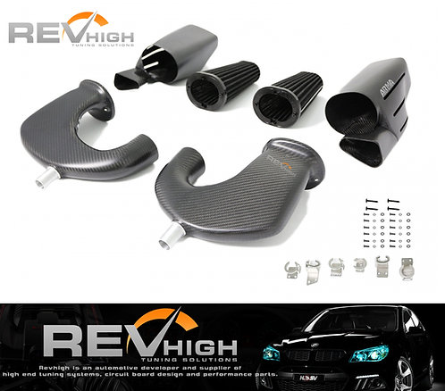 Mercedes Benz W205 C63Scarbon fiber airbox Performance cold air intake filter ki
