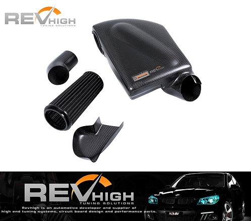 BMW E70 X5 35i N55B30 carbon fiber airbox Performance cold air intake filter kit