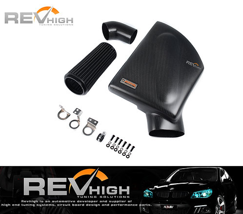 BMW F13 640i N55B30 carbon fiber airbox Performance cold air intake filter kit