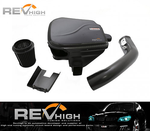 BMW F32 435 N55B30 carbon fiber airbox Performance cold air intake filter