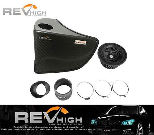 BMW E46 325i carbon fiber airbox Performance cold air intake filter kit