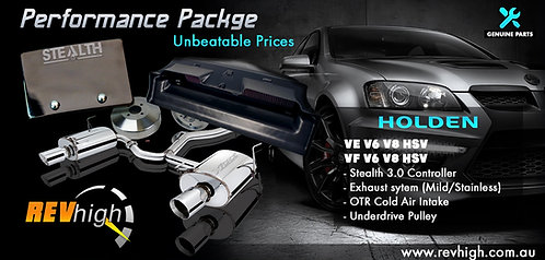 Stage 1 - VZ V6 Performance & Exhaust Package 3.6L Alloytec Holden Commodore