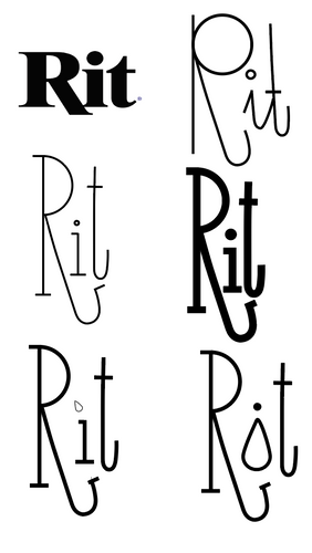 First draft ideas, trying to find the balance between letters and an icon