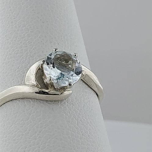 Aquamarine Swirl Ring