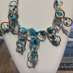 Turquoise Wire Wrap Necklace
