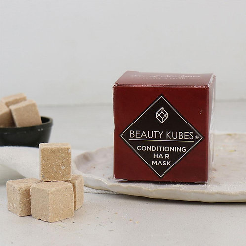 Solid hair conditioner cubes