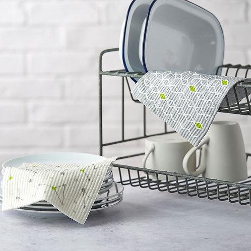 Compostable sponge cleaning cloths - set of 2