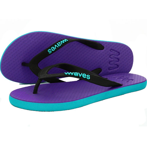 Plastic free flip flops (Women's turquoise w/ purple)