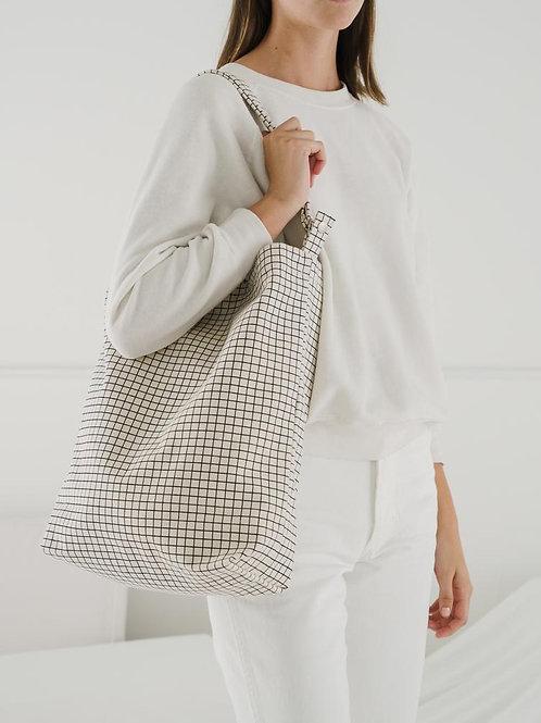 BAGGU - Tote bag natural stripe