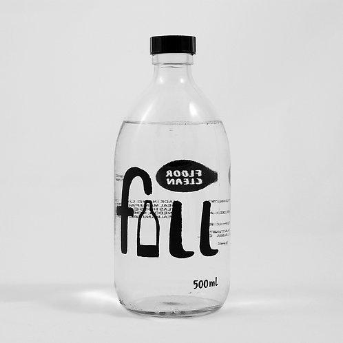 500ml Floor cleaner (bergamot) in glass bottle