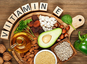 Foods rich in vitamin E such as wheat ge
