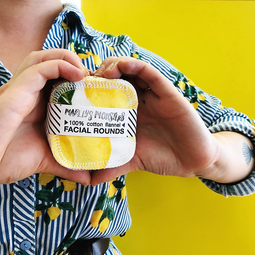 Facial pads - Vintage Lemon print (20 pack)